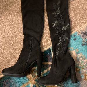 NWOT : Black over the knee Boots